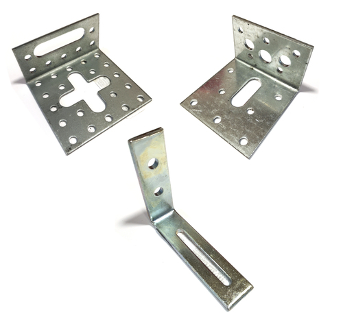 Strong Metal Adjustable Angle Corner Bracket Silver