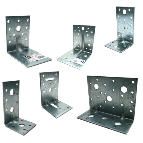 Reinforced 2.5mm Galvanised Angle Bracket