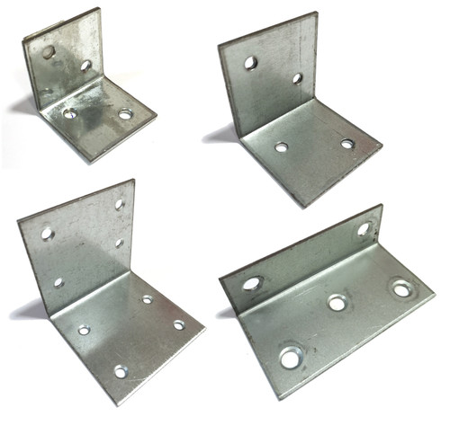 Wide 2mm Angle Bracket Galvanised