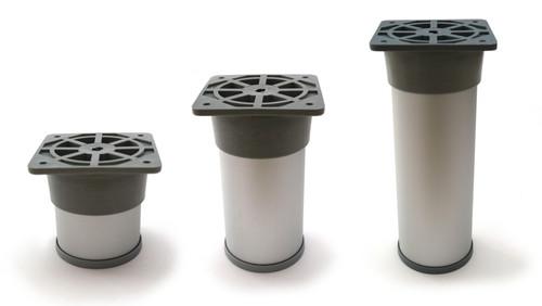 Furniture Leg Foot Round NA28 50x60mm Aluminium