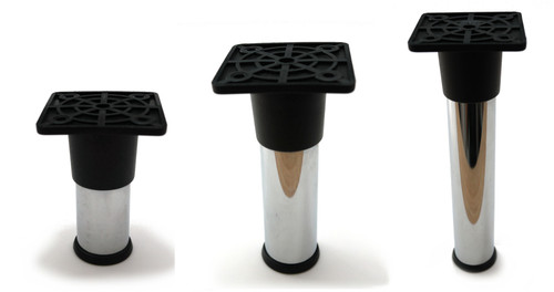 Furniture Leg Foot Round NC25 25mm Chrome