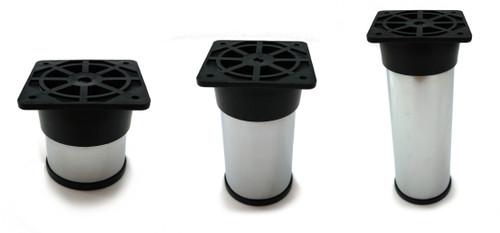 Furniture Leg Foot Round NC28 50mm Chrome