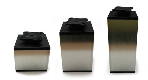 Furniture Leg Foot Square NIKR30 65x65mm Inox
