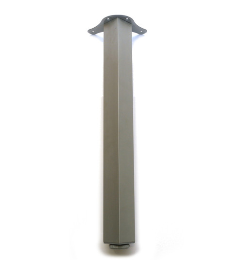 Square Breakfast Bar Worktop Support Table Leg 65x65mm Aluminium colour