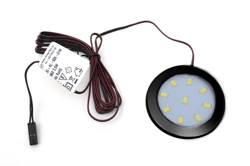 LED Light Orbit XL 3W 12V Surface Black 60x6mm