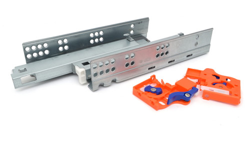 Undermount Drawer Runner Push To Open Galvanized