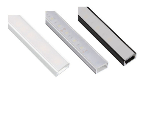 Aluminium Surface Profile 2m for LED Light Strip with Opal Cover