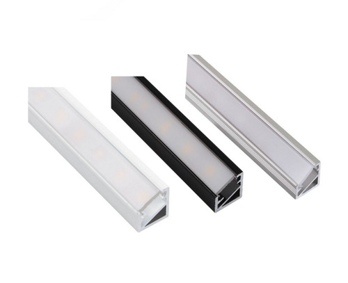 Aluminium Corner Profile 2m for LED Light Strip with Opal Cover