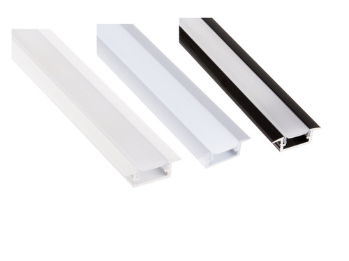 Aluminium Recessed Profile 2m for LED Light Strip with Opal Cover