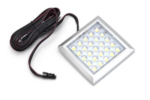 LED Light Square XL 2W 12V Surface Aluminium 64x9mm