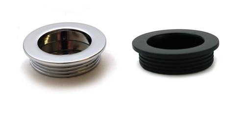 Recessed Flush Sliding Door Handle Pull Circle 40x35x10mm