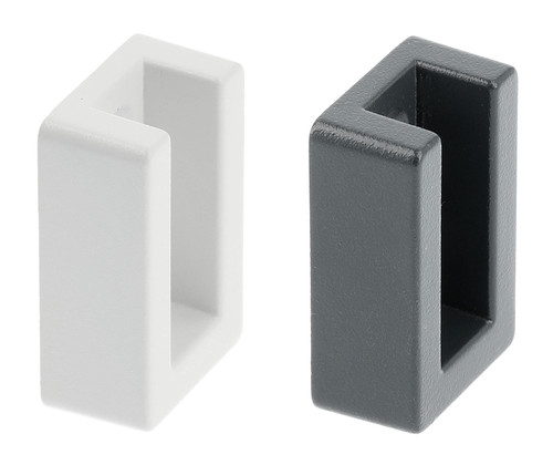Square Tube Holder for Wardrobe 42x27x15mm