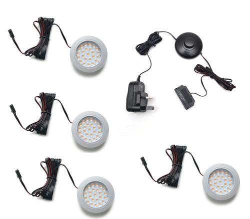 LED Light Alvaro 1.7W 12V Recessed Aluminium 65x9mm Kit