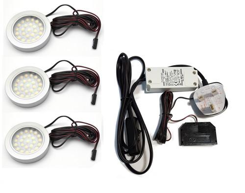 LED Light VASCO 12V 1.7W Surface Aluminium 65mm Kit