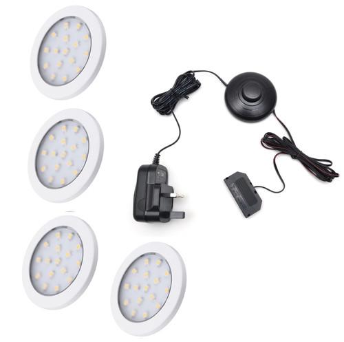 LED Light Orbit 1.5W 12V White Cover 60x6mm Kit