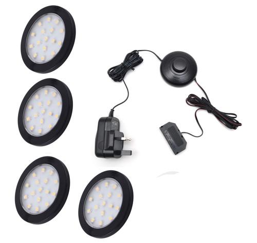 LED Light Orbit 1.5W 12V Black Cover 60x6mm Kit