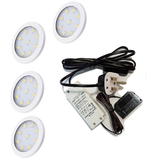 LED Light OrbitXL 3W 12V White Cover 60x6mm Kit