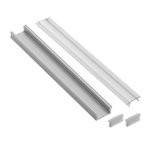 Aluminium Profile Small 1M for LED Light Strip with Cover