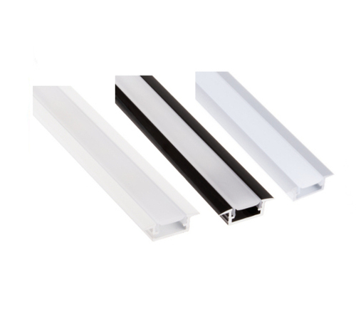 Aluminium Profile Recessed 2m for LED Light Strip with Cover and Caps
