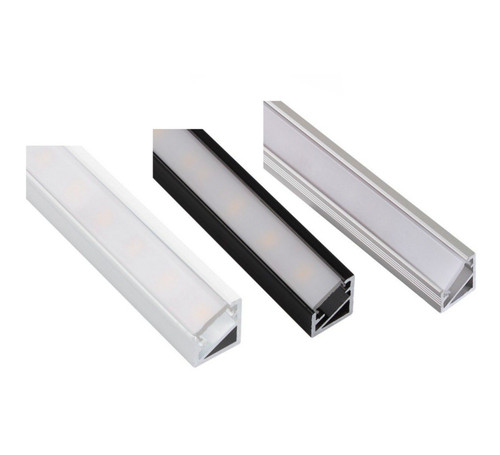 Aluminium Profile Corner 2m for LED Light Strip with Cover and Caps