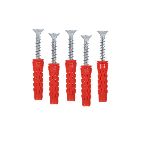 10x Universal wall plugs drywall 5mm plug PZ-2 3.5mm screw