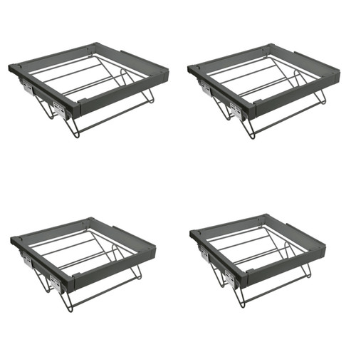 Wardrobe Soft Close Pull Out Shoes Rack Drawer Set Anthracite