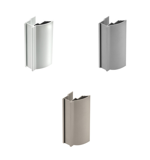 Aluminium NOV2 Handle Profile 18mm x 2.7m For Sliding Wardrobe Doors