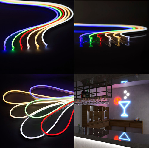 12V 5m Neon LED Light Strip Flex Rope Light Flexible Outdoor IP65