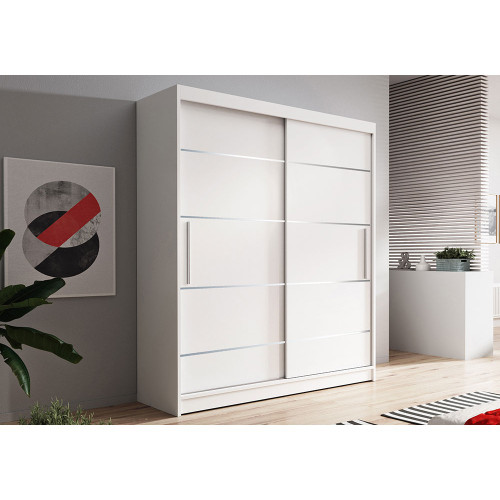 Quality Wardrobe Sliding Doors NEOMI06 120cm Quality Hanging Rail Shelves