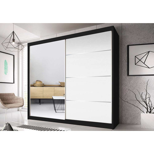 Quality Wardrobe Sliding Doors MULTI40 183cm Quality Hanging Rail Shelves