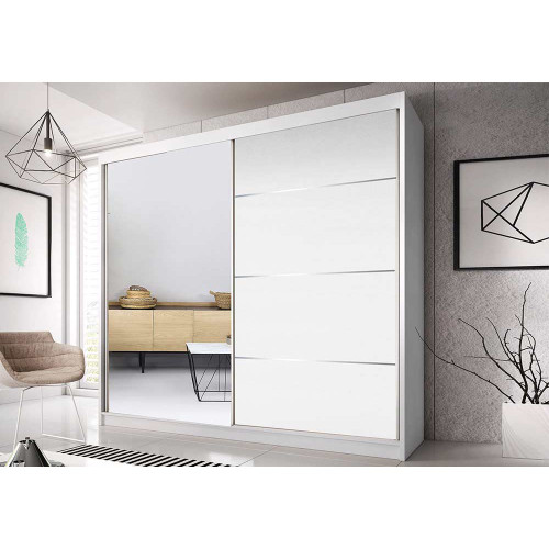 Quality Wardrobe Sliding Doors MULTI40 233cm Quality Hanging Rail Shelves