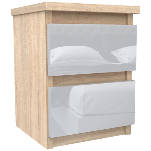 Sonoma Oak Bedside Table Drawer Cabinet Bedroom Furniture 30x30x40cm