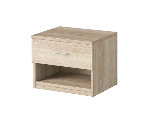 Oak Alex Bedside Table Nightstand Storage Cabinet Bedroom Unit 46x36x40cm