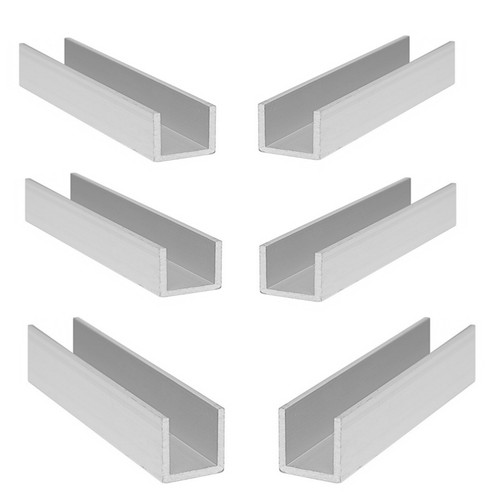 Anodized Aluminum Profile U Channel Bar Strip