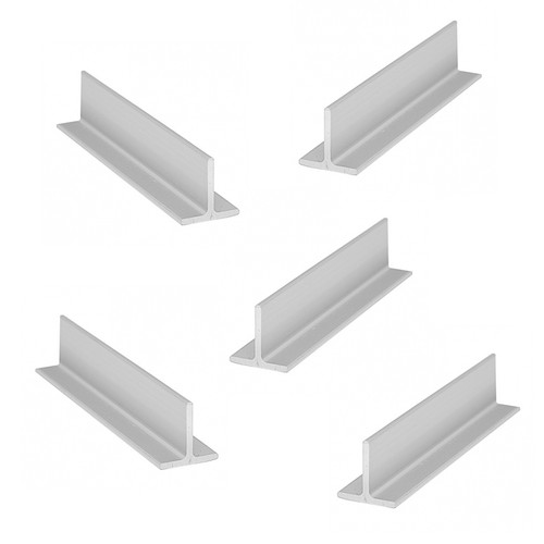 Anodized Aluminum T Bar Strip Profile Straight Edge