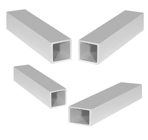 Anodized Aluminum Square Profile Rectangular Tube Straight Edge