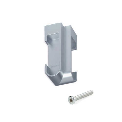 Oval Angle Support Aluminium Tube Holder for Wardrobe Rail with Screw