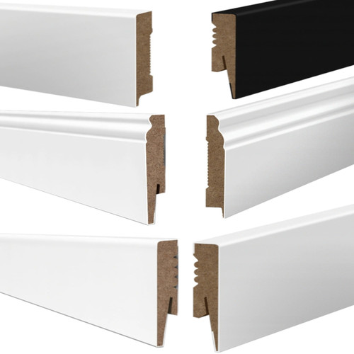 MDF Skirting Board Wire Cable Trunking 2m Length