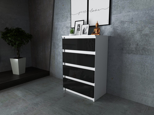 Small Chest of Drawers No Handle Storage Cabinet with 4 Drawers