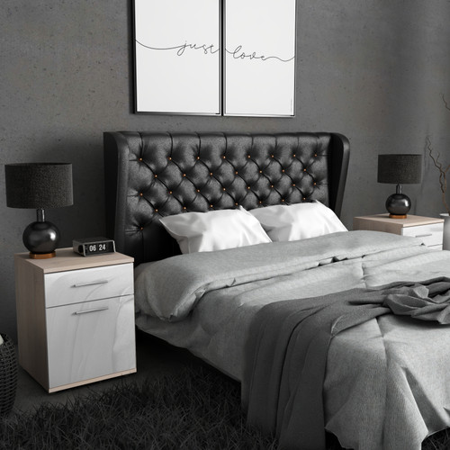Bedside Table Nightstand with Drawer Bedroom Storage Unit