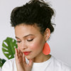 Apricot Suede Leather Earrings