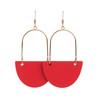 Select Crimson Isla | Nickel and Suede Leather Earrings