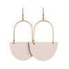 Soft Sand Isla Hoop Leather Earrings | Nickel and Suede