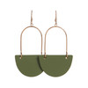 Select Olive Isla Leather Earrings | Nickel and Suede