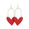 Sweetheart Hoop Select Red Leather Earrings | Nickel and Suede