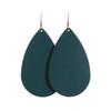 Royal Teal Leather Earrings   Nickel & Suede