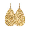 Hammered Gold Leather Earrings | Nickel and Suede