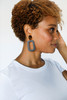 Royal Teal Bloch Leather Earrings