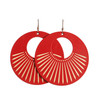 Select Crimson Sunburst Nova Leather Earrings | Nickel and Suede