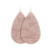 Rose Trellis Leather Earrings | Nickel and Suede